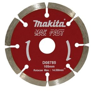 Disco diamantado Mak - Fast segmentado para concreto 105 mm D - 08785 Makita