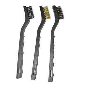 Jogo de escovas de aço pequena com cabo plástico 748609 MTX