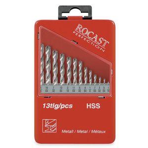 Jogo-de-Brocas-Paralela-Aco-Rapido-15-a-65mm-13-pecas-DIN338-Ref-50159-ROCAST