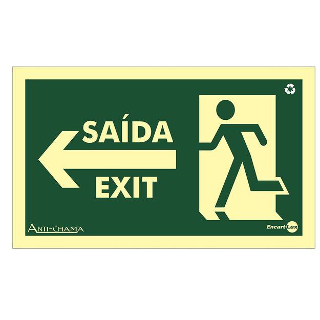 Placa-Sinalizacao-150x250mm-Saida-a-Esquerda-Bilingue-Ref-PAF322-ENCARTALE