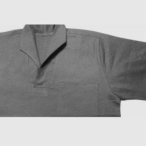 Camisa-Manga-Curta-Gola-Italiana-Cinza-Tam-M-Ref-U168CZ-JAKX