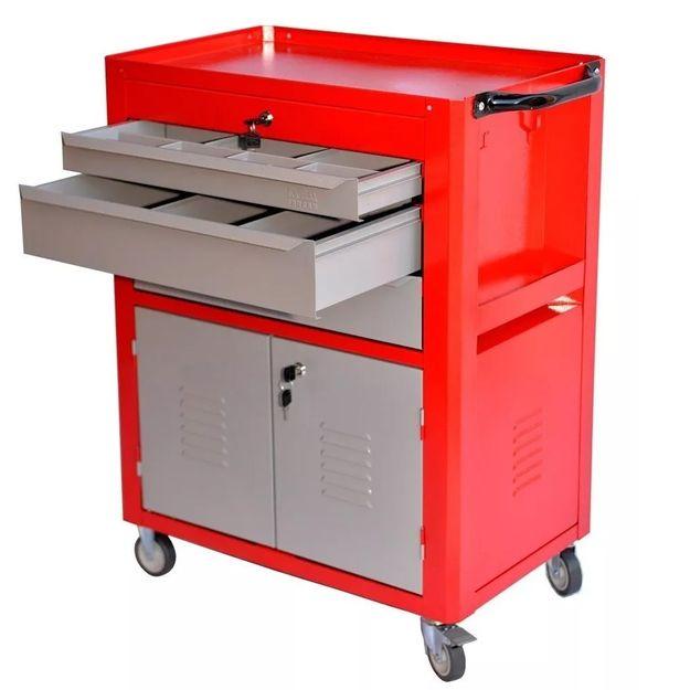 Carro-porta-ferramentas-fechado-com-3-gavetas-vermelho-Ref-06-FERCAR-