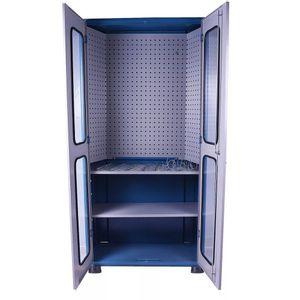 Armario-com-2-Bandejas-Compacto-Porta-com-Vidro-Ref-AM74-MARCON