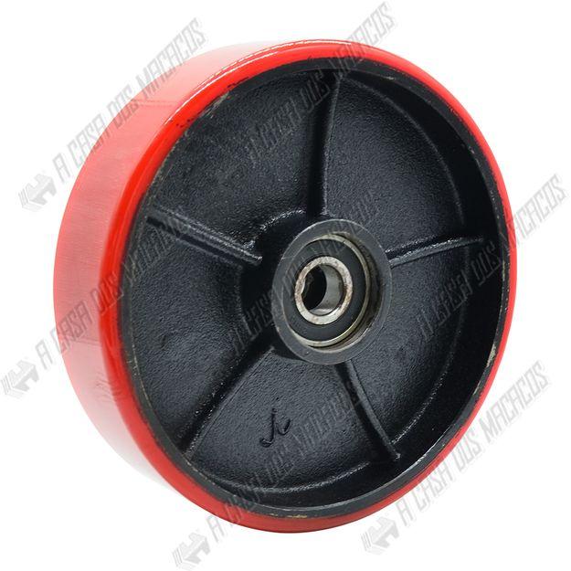 <p>-<p>Roda-Direcional-Poliuretano-ACM-Tools<p>Indicada-para-Paleteira--TR-3.0-ACM-Tools-<p>Com-Rolamento-Duplo-<p>Produzido-em-Poliuretano-<p>Rolamento-Ref6204-<p>Dimensoes--200X50mm<p>Peso--26Kg