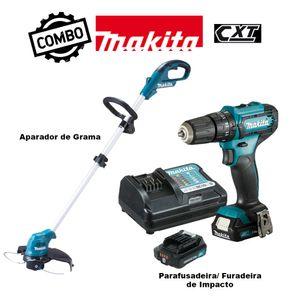 Kit-Parafusadeira--Furadeira-de-Impacto-HP333DYX3---Aparador-de-Grama-UR100DZX-MAKITA