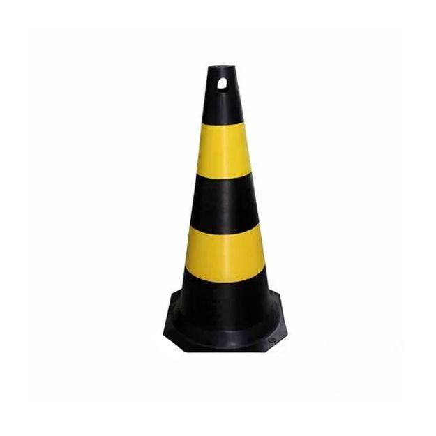 Cone-de-Sinalizacao-Preto-Amarelo-75cm-Ref-70000505-PLASTCOR