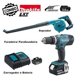 Kit-Parafusadeira--Furadeira-de-Impacto-RefDHP453SFX8---Soprador-a-Bateria-Ref-DUB183Z-MAKITA