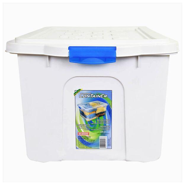 <p>Design-moderno-e-pratico-para-melhor-organizacao.<p>Fabricada-em-plastico-Polipropileno-possui-tampa-e-travas.<p>Marca--Sao-Bernardo<p>Tipo--Container<p>Dimensoes--CxLxA---430x-670x-335mm<p>Material--Polipropileno<p>Peso--2560-Kg<p>Capacidade--70-litros<p>-