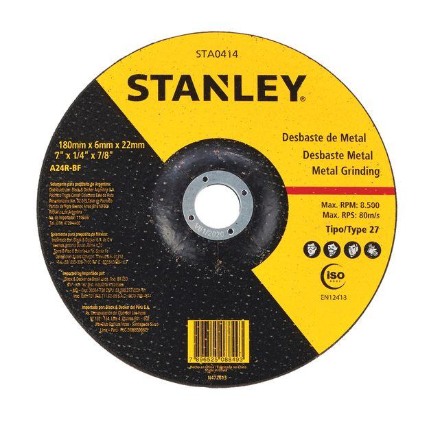 Disco-de-Desbaste-180x-6x-22mm-Metal-Ref-STA0414-STANLEY-