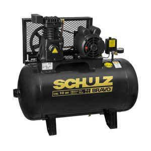 Compressor-de-Ar-CSL10BR-100L-2HP-2-polos-Monofasico-220v-BRAVO-SCHULZ