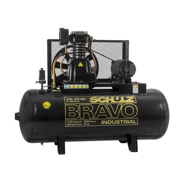Compressor-de-Ar-Csl-20br-200l-5hp-2p-Trifasico-220-380v-Bravo-Schulz