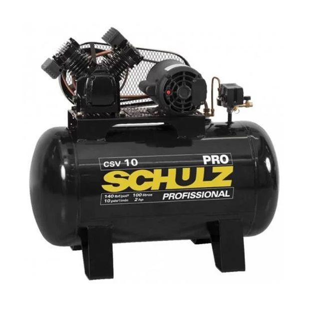 Compressor-de-Ar-CSV-10PRO-100L-2HP-2-polos-Trifasico-220-380v-SCHULZ