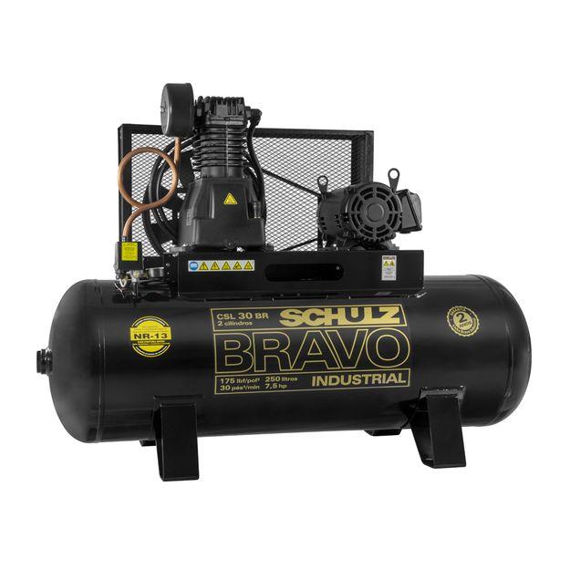 Compressor-de-Ar-CSL-30BR-250L-75HP-2-polos-Trifasico-220-380v-SCHULZ