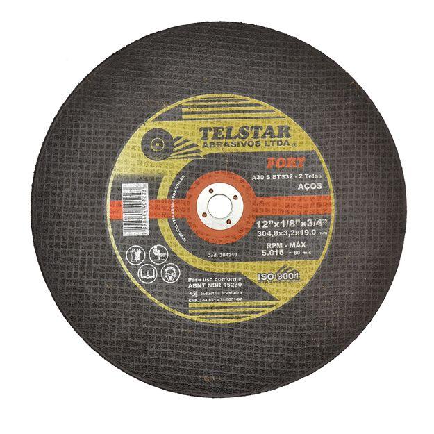 Disco-de-Corte-3048x-32x-19mm-FORT-2-telas-Ref-304219-TELSTAR-