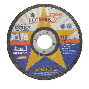 Disco-de-Corte-115x3x223mm-Aco--Inox--Metal-Ref-PT11530-PEGATEC