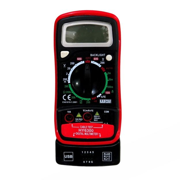 Multimetro-Digital-com-Teste-de-Rede-USB-HY6300-Ref-615945-LEE-TOOLS