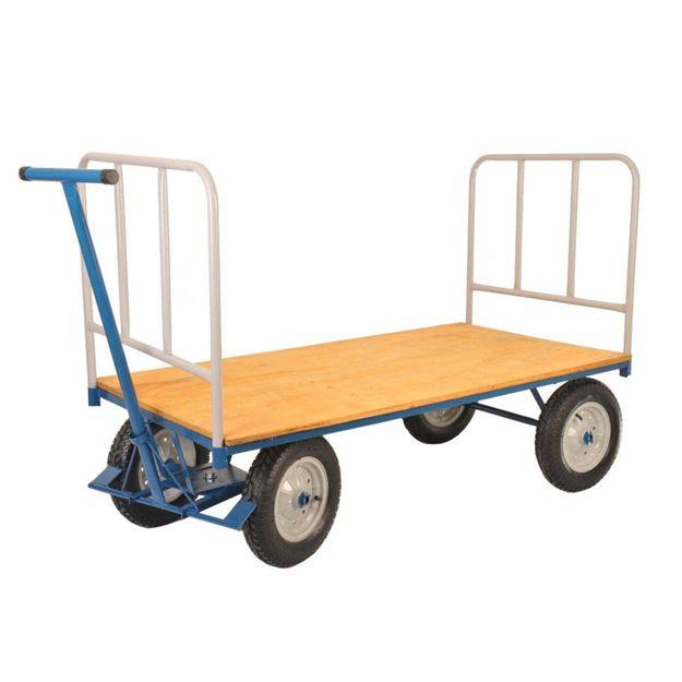 Carro-Plataforma-400Kg-com-Tampo-de-Madeira-com-Grade-Ref-PLM400G-FERCAR-