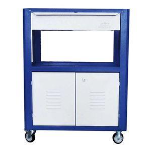 Carro-Porta-Ferramentas-Semi-Fechado-com-1-Gaveta-Azul-Ref-C05-FERCAR