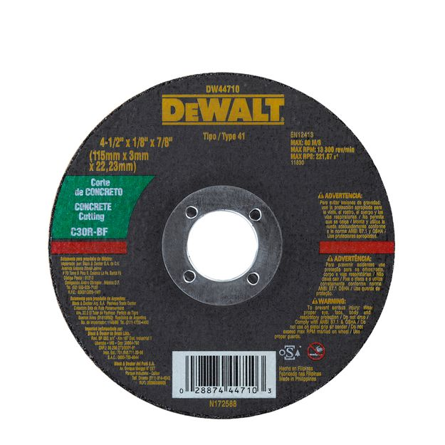 Disco-Corte-115x30x222-Concreto-Dw44710-Dewalt