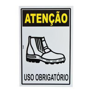 Placa-de-Sinalizacao-ATENCAO-USO-OBRIGATORIO-BOTA--BOTINA-20702-TRY