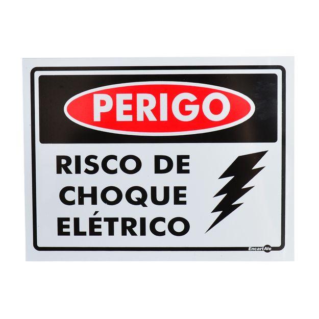 Placa-de-Sinalizacao-PERIGO-RISCO-DE-CHOQUE-ELETRICO-PS159-ENCARTALE