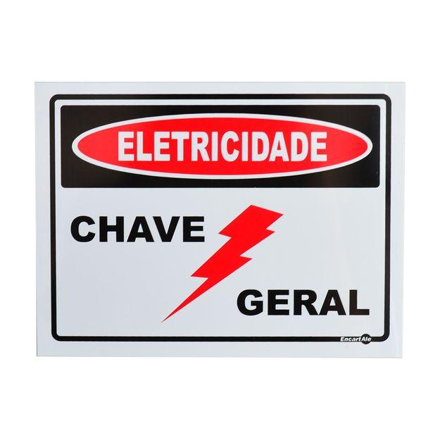 Placa-de-Sinalizacao-ELETRICIDADE-CHAVE-GERAL-PS126-ENCARTALE