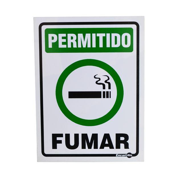 Placa-de-Sinalizacao-PERMITIDO-FUMAR-PS103-ENCARTALE-