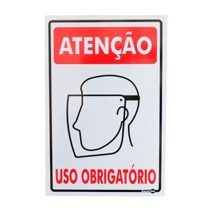Placa-de-Sinalizacao-ATENCAO-USO-OBRIGATORIO-PROTETOR-FACIAL-PS221-ENCARTALE-