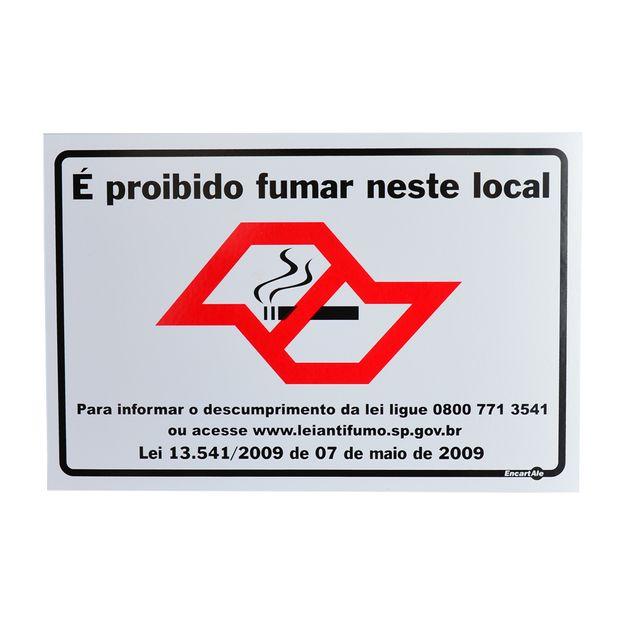 Placa-de-Sinalizacao-E-PROIBIDO-FUMAR-NESTE-LOCAL-PS611-ENCARTALE