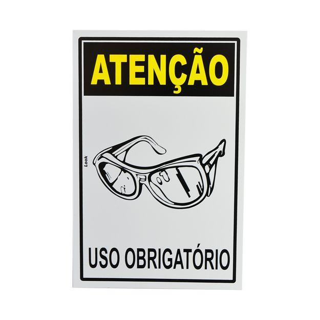 Placa-de-Sinalizacao-ATENCAO-USO-OBRIGATORIO-OCULOS-DE-PROTECAO-20703-TRY-
