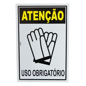 Placa-de-Sinalizacao-ATENCAO-USO-OBRIGATORIO-DE-LUVAS-20705-TRY