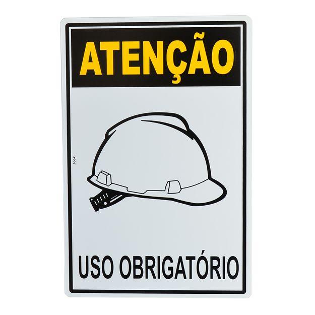 Placa-de-Sinalizacao-ATENCAO-USO-OBRIGATORIO-DE-CAPACETE-20704-TRY
