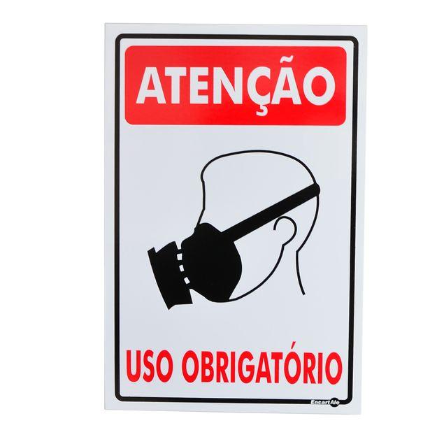 Placa-de-Sinalizacao-USO-OBRIGATORIO-DE-MASCARA-PS155-ENCARTALE