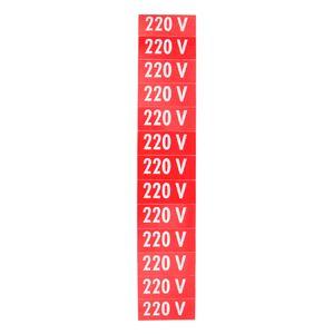 Placa-de-Sinalizacao-220V-Vermelha-com-13-Unidades-Ref-PS75-ENCARTALE