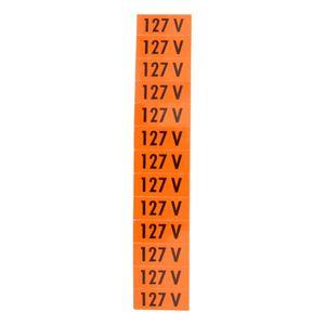 Placa-de-Sinalizacao-127V-Laranja-com-13-Unidades-Ref-PS134-ENCARTALE