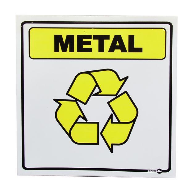 Placa-de-Sinalizacao-LIXO-METAL-Ref-AV20-ENCARTALE