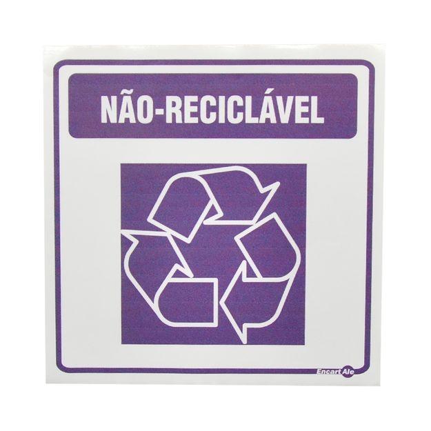 Placa-de-Sinalizacao-LIXO-NAO-RECICLAVEL-Ref-AV-21-ENCARTALE
