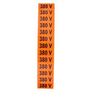 Placa-de-Sinalizacao-380V-Laranja-com-13-Unidades-Ref-PS135-ENCARTALE
