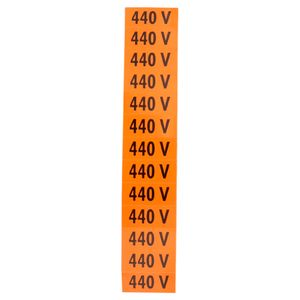 Placa-de-Sinalizacao-440V-Cor-Laranja-com-13-Unidades-Ref-PS136-ENCARTALE-