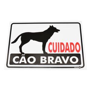 Placa-de-Sinalizacao-CUIDADO-CAO-BRAVO-Ref-PS24-ENCARTALE