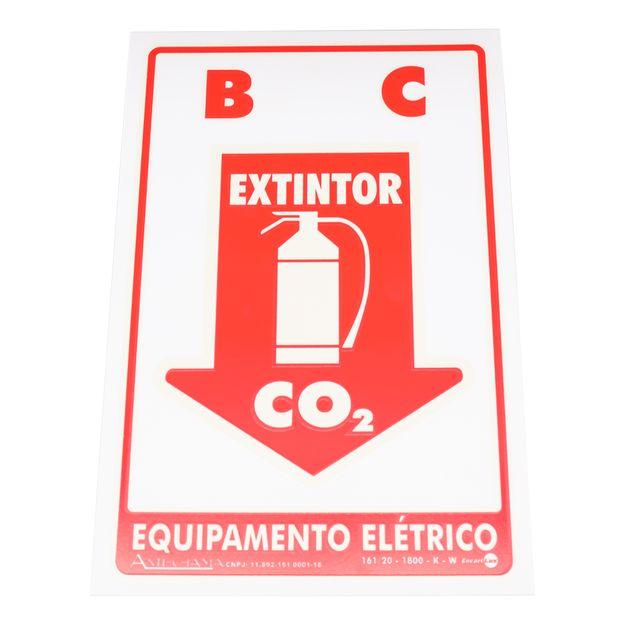 Placa-de-Sinalizacao-B-C-EXTINTOR-CO²-EQUIPAMENTO-ELETRICO-Ref-PAF-302-ENCARTALE-