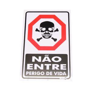 Placa-de-Sinalizacao-NAO-ENTRE-PERIGO-DE-VIDA-Ref-PS-18-ENCARTALE