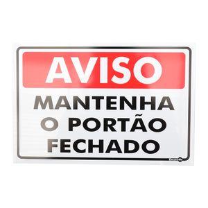 Placa-de-Sinalizacao-AVISO-MATENHA-O-PORTAO-FECHADO-Ref-478-ENCARTALE