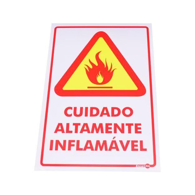 Placa-de-Sinalizacao-ALTAMENTE-INFLAMAVEL-Ref-PS17-ENCARTALE