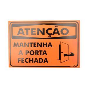 Placa-de-Sinalizacao-ATENCAO-MANTENHA-A-PORTA-FECHADA-Ref-PR2001-ENCARTALE