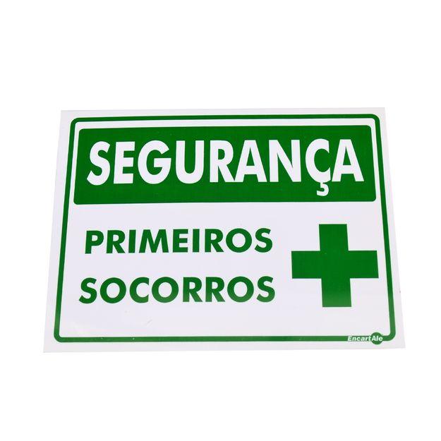 Placa-de-Sinalizacao-SEGURANCA-PRIMEIROS-SOCORROS-Ref-PS361-ENCARTALE