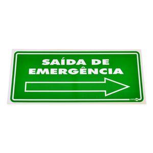 Placa-de-Sinalizacao-SAIDA-DE-EMERGENCIA-a-Direita-Ref-PS-115-ENCARTALE