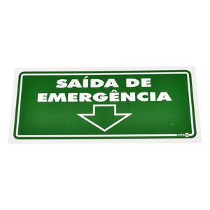 Placa-de-Sinalizacao-SAIDA-DE-EMERGENCIA-para-Baixo-Ref-PS-114-ENCARTALE