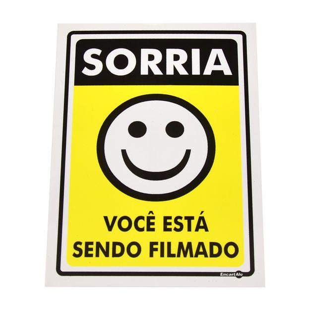 Placa-de-Sinalizacao-SORRIA-VOCE-ESTA-SENDO-FILMADO-Ref-PS91-ENCARTALE