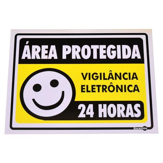 Placa-de-Sinalizacao-AREA-PROTEGIDA---VIGILANCIA-ELETRONICA---24-HORAS-Ref-PS237-ENCARTALE-